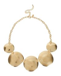 Kenneth Jay Lane | Metallic Satin Gold Tone Coin Necklace | Lyst