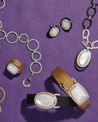 Alor   Metallic Classique Mother-Of-Pearl & Diamond Ring   Lyst