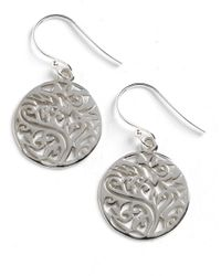 Lord & Taylor | Metallic Sterling Silver Filigree Tree Drop Earrings | Lyst