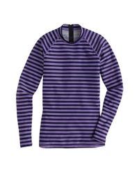 J.Crew | Purple Striped Rash Guard | Lyst