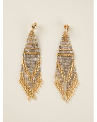 Gas Bijoux | Metallic Embellished Square Bead Earrings | Lyst