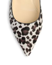 Jimmy Choo Multicolor Aza Leopard-Print Calf Hair Pumps