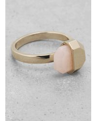 & Other Stories | Metallic Stone Ring | Lyst