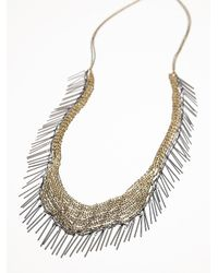 Free People | Metallic Chainmail Fringe Necklace | Lyst