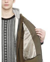 Miharayasuhiro Natural Cotton Canvas Flannel Bomber Jacket for men