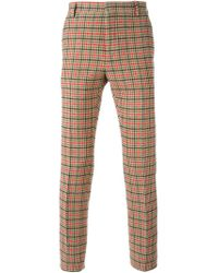 Au Jour Le Jour - Multicolor Checked Trousers for Men - Lyst