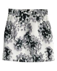H&M Black Jacquard-weave Skirt