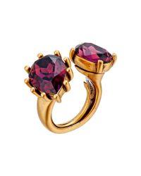 Oscar de la Renta - Metallic Pear Stone Ring - Lyst