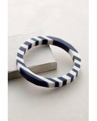 Anthropologie - Blue Skerry Stripe Bangle - Lyst