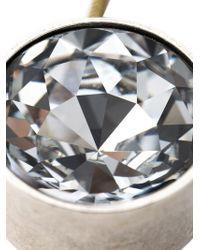 Lanvin | Metallic Crystal Pendant Necklace | Lyst
