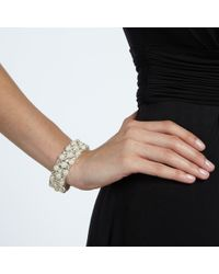 John Lewis | White Faux Pearl And Cubic Zirconia Stretch Bracelet | Lyst