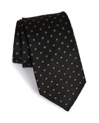 Michael Kors | Black 'stop Sign' Dot Silk Tie for Men | Lyst