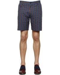 Antonio Marras | Blue Striped Cotton Shorts for Men | Lyst