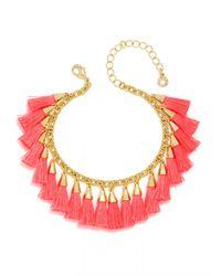 BaubleBar | Red Festival Tassel Bracelet | Lyst