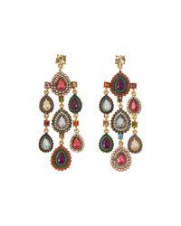 Betsey Johnson - Multicolor Summer Stone Blast Multi Chandelier Earrings - Lyst