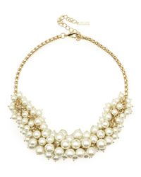 Jaeger | Metallic Pearl Cluster Necklace | Lyst