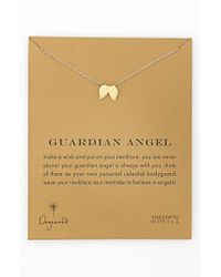 Dogeared - Metallic 'reminder - Guardian Angel' Wings Pendant Necklace - Lyst