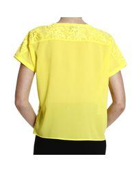 Pinko - Yellow Top - Lyst