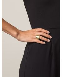 Vaubel - Metallic Triple Band Ring - Lyst