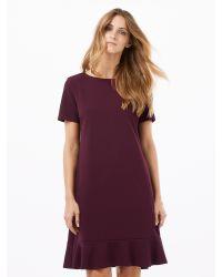 Phase Eight Purple Alina Frill Hem Dress