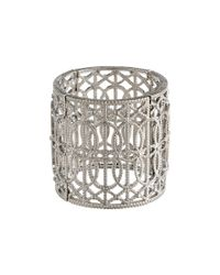 Jessica Simpson | Gray Interlaced Scroll Stretch Bracelet | Lyst