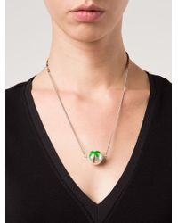 Venessa Arizaga | Metallic 'cuba Livre' Palm Tree Necklace | Lyst