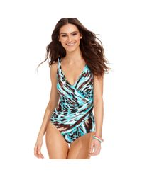 Miraclesuit | Blue Oceanus Printed Tummy-control Onepiece Swimsuit | Lyst