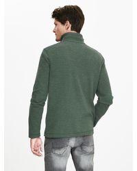 Banana Republic | Green Woven-trim Half-zip Pullover for Men | Lyst