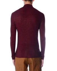 Burberry Prorsum - Purple Knitted Polo Shirt for Men - Lyst