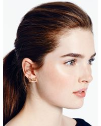 kate spade new york - Metallic Tied Up Pave Studs - Lyst