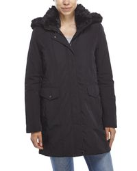 Marc New York - Black Faux Fur Trim Hooded Parka - Lyst