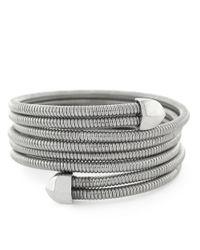 BCBGeneration | Metallic Silvertone Coil Wrap Bracelet | Lyst