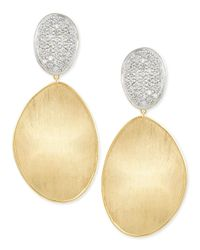 Marco Bicego | Metallic Large Diamond Lunaria 18k Gold Double-drop Earrings | Lyst