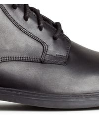 H&M Black Leather Boots for men