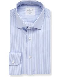 Smyth & Gibson | Blue Albany Striped Tailored-fit Cotton Shirt for Men | Lyst