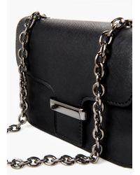 Mango | Black Small Flap Bag | Lyst