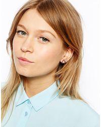 ASOS - Metallic Cut Out Heart Earrings Pack - Lyst