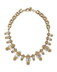 Lulu Frost Metallic Phantom Crystal Statement Necklace