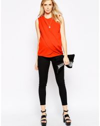 ASOS - Natural Nursing Top With Wrap Overlay In Texture - Lyst