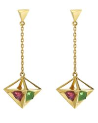 Ruifier | Metallic 'stella' Drop Earrings | Lyst