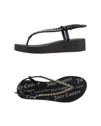 c14c4ae17d2d1 Juicy Couture Thong Sandal in Black - Lyst