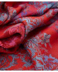 KENZO Red Baroque Woolblend Scarf