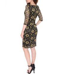 True Decadence Multicolor Lace Layer Midi Dress