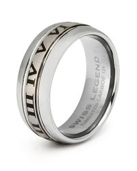 Swiss Legend | Metallic Men's Carbide Tungsten Ring | Lyst