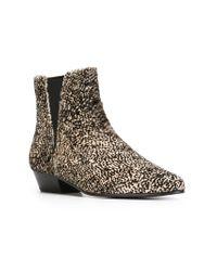 Isabel Marant Gray Patsha Animal-Print Ankle Boots