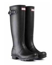 HUNTER | Black Original Stripe Rain Boots | Lyst