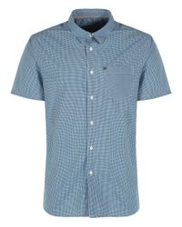Bench - Blue Rapson Pattern Classic Fit Short Sleeve Shirt for Men - Lyst