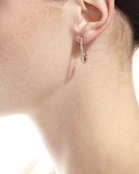 Anita Ko   Pink 18k Rose Gold Diamond Safety Pin Earring   Lyst