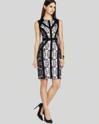BCBGMAXAZRIA Black Dress Holly Blocked Sheath