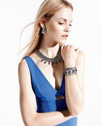 DANNIJO - Multicolor Alexia Crystal-Station Cuff Bracelet - Lyst